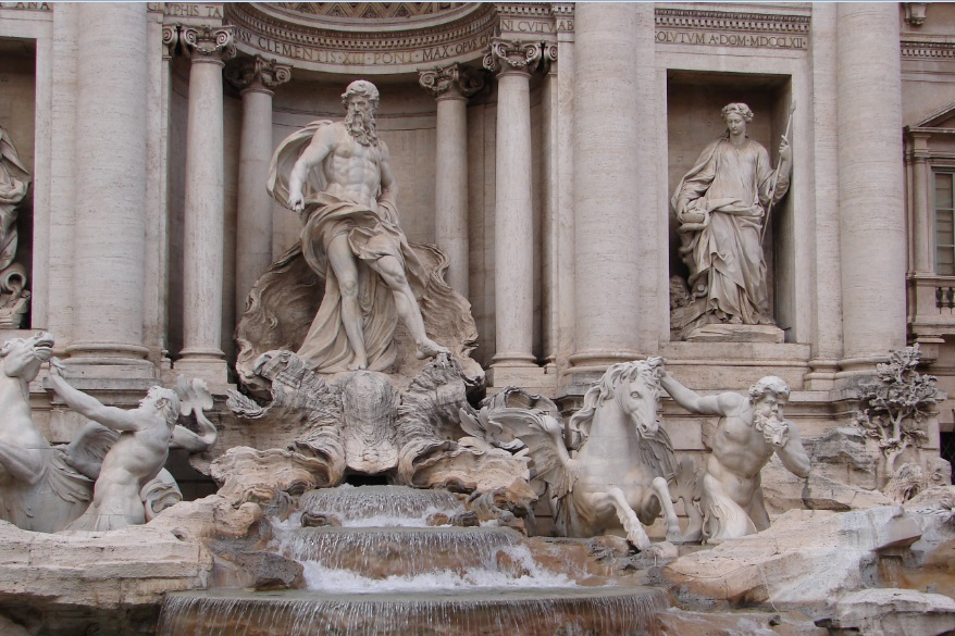 Zeul Neptun în Piazza di Trevi, Fontanta di Trevi