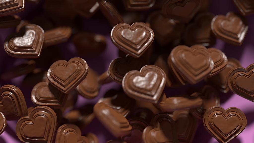 ciocolata in forma de inima