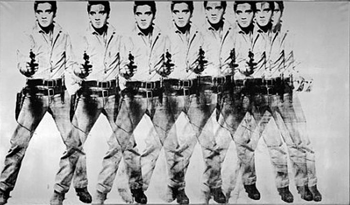 Andy Warhol; Opt Elvisi, Foto: jumpingpolarbear.com
