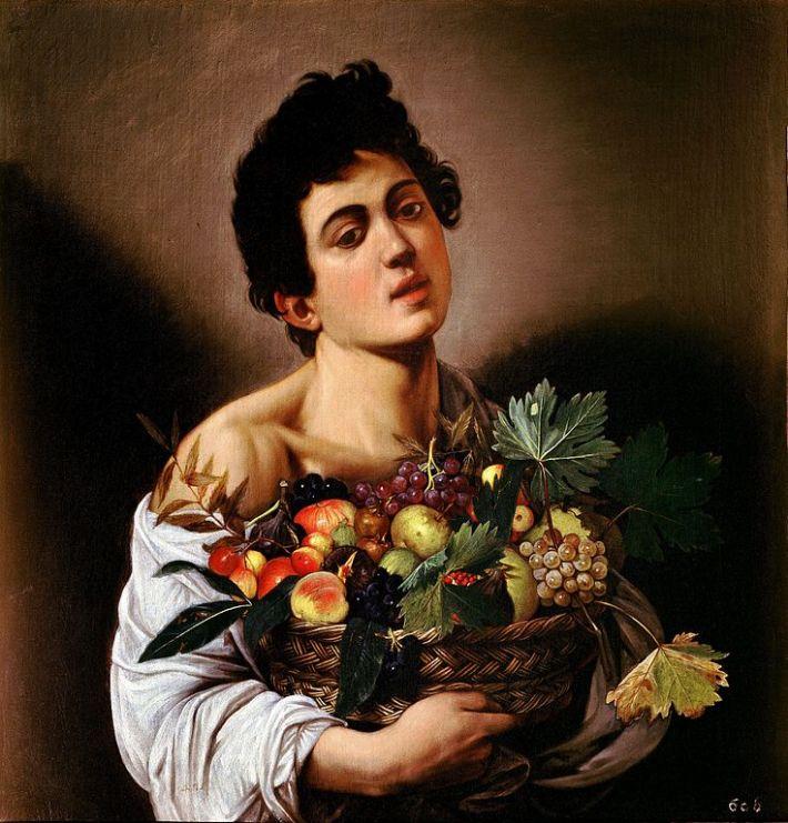 Caravaggio; Baiat cu cos cu fructe, Foto: scotter92.wordpress.com