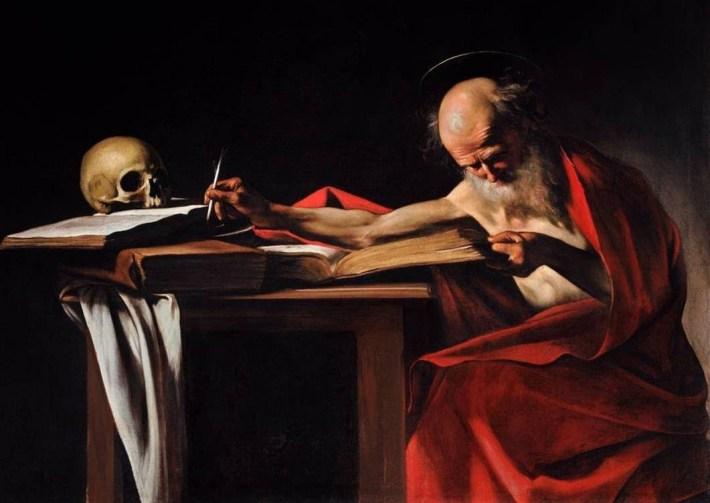 Caravaggio; St Jerome, Foto: publishistory.wordpress.com