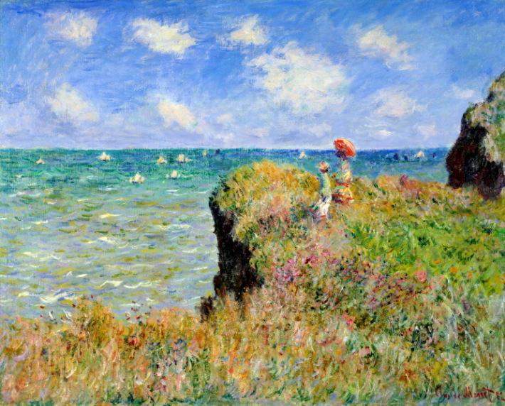 Claude Monet, Plimbare in Pourville, Foto: raduga-hobby.ru