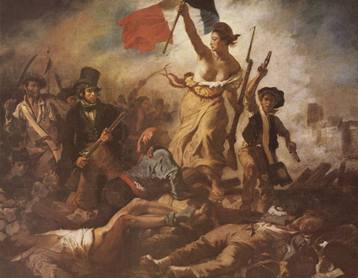 Eugene Delacroix; Libertatea conducand poporul, Foto: malerei-meisterwerke.de