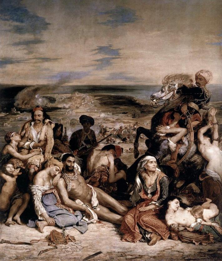 Eugene Delacroix; Masacru la Chios, Foto: bestamericanart.blogspot.ro