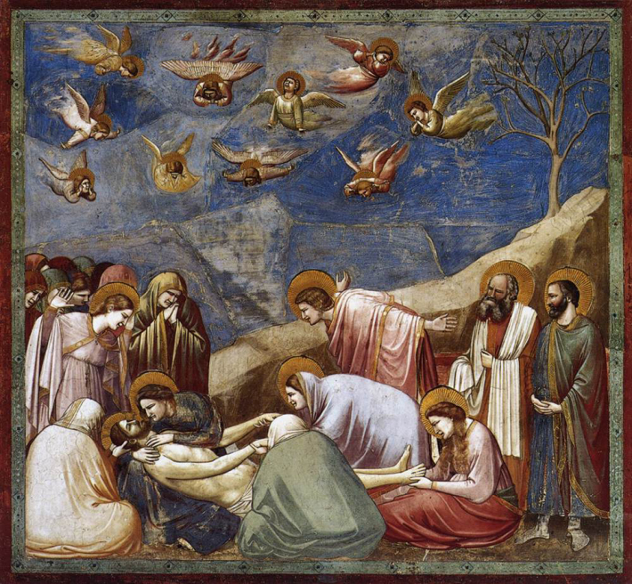 Giotto di Bondone; Plangerea la mormant, Foto: brigitaozolins.wordpress.com