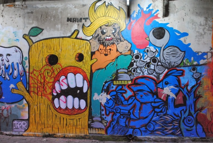 Graffiti pe perete, Foto: download-image.blogspot.ro