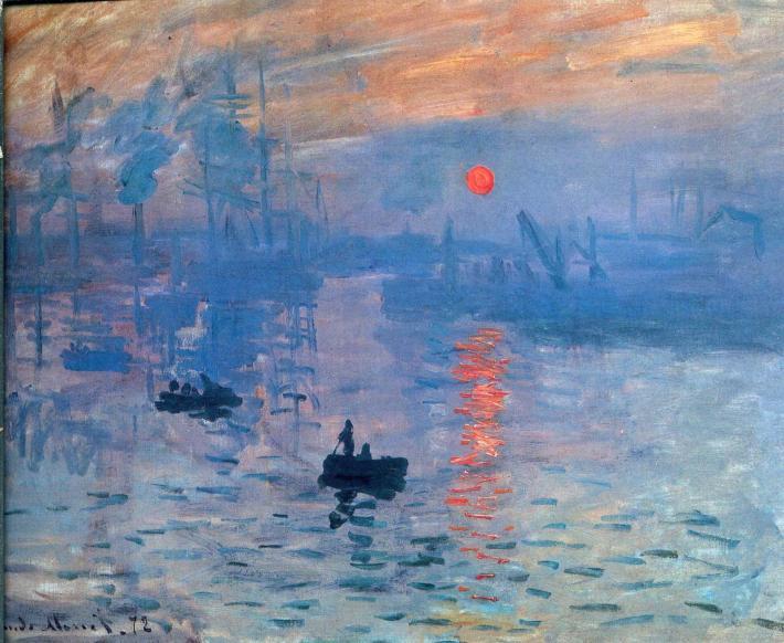 Claude Monet; Impression, Rasarit, Foto: studyblue.com