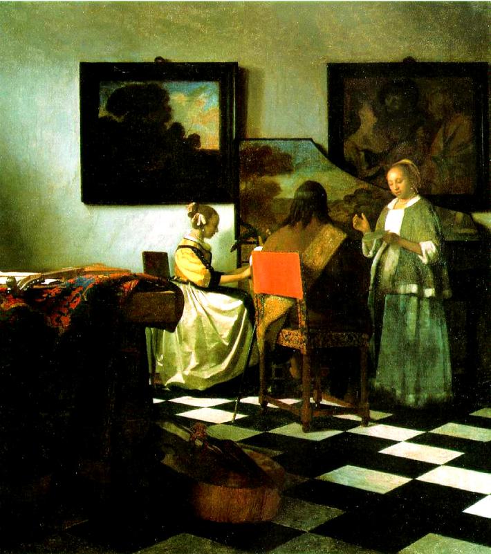 Johannes Vermeer; Concertul, Foto: vermeer0708.wordpress.com