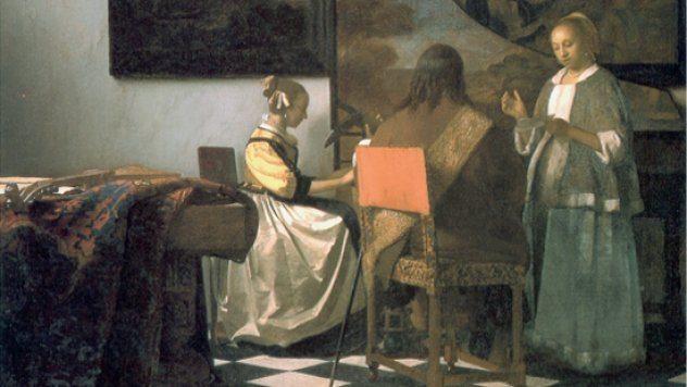 Johannes Vermeer; Concertul, Foto: bugaga.ru