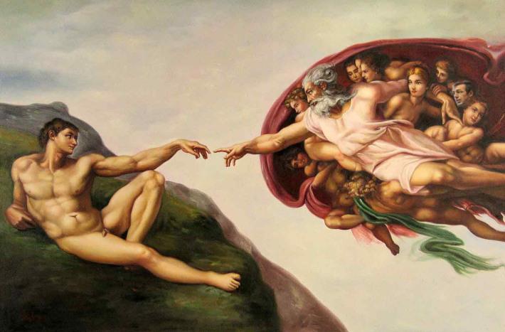 Michelangelo Buonarroti; Crearea lui Adam, Foto: joseenriquelurking.wordpress.com