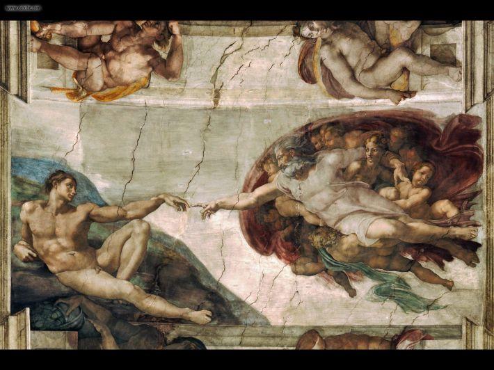 Michelangelo; Nasterea lui Adam, Foto: revistauniversulmeu.wordpress.com