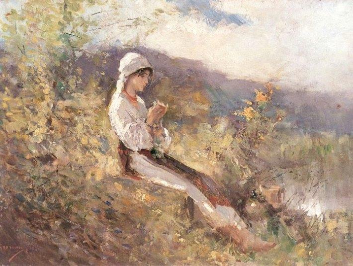 Nicolae Grigorescu; Taranca pe iarba, Foto: tesalutviata.blogspot.ro