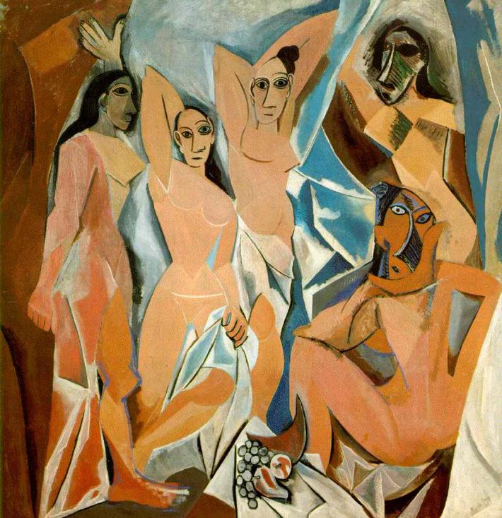 Pablo Picasso; Domnisoarele din Avignon, Foto: anm104f11.wordpress.com
