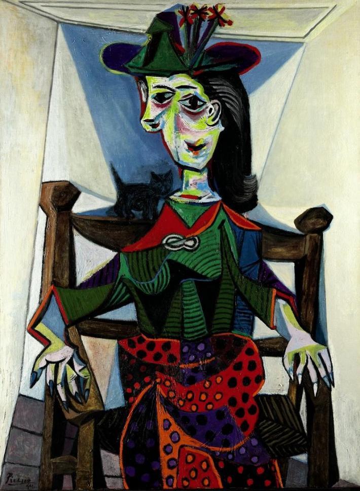 Pablo Picasso; Dora Maar With Cat, Foto: oracoolblog.wordpress.com