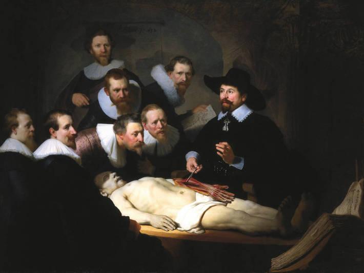 Rembrandt van Rijn; Lectia de anatomia a doctorului Tulp, Foto: johnbriner.wordpress.com