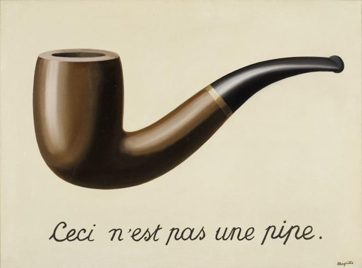 Rene Magritte; Ceci n'est pas une Pipe, Foto: museumexhibitions.wordpress.com