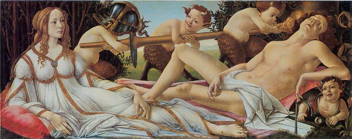Sandro Botticelli; Venus si Marte, Foto: fineartamerica.com