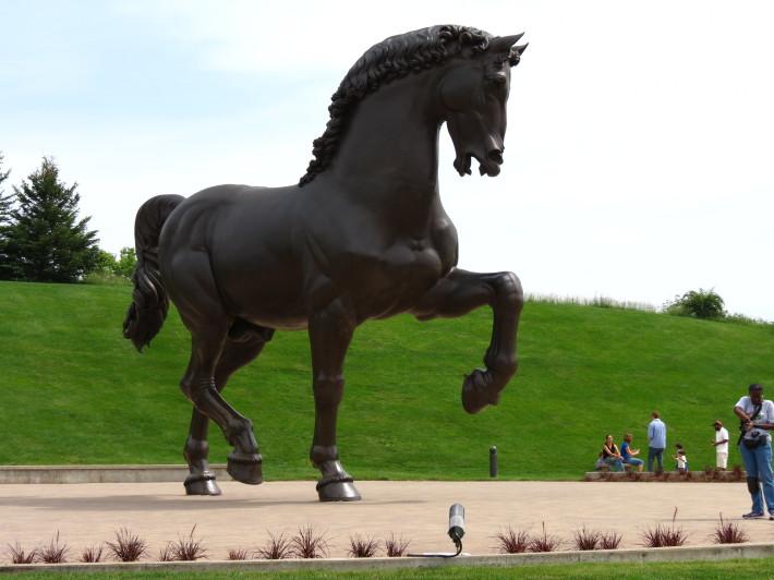Sculptura ecvestra Leonardo da Vinci, Foto: tjelser.wordpress.com