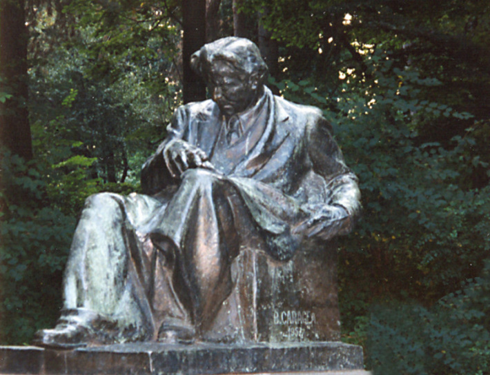 Statuia lui George Enescu, Foto: puiunistoreanu-moinesteanu.blogspot.ro