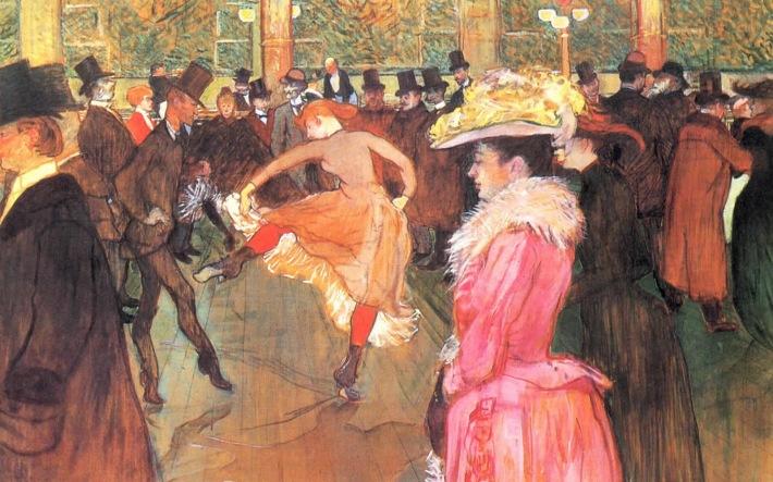 Toulouse Lautrec; Moulin Rouge, Foto: unavidaenlosaromos.blogspot.ro