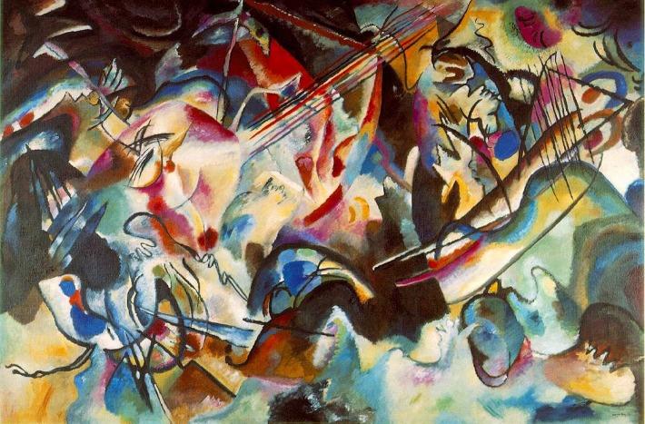 Vasili Kandinski; Compozitia a VI-a, Foto: thereddeeps.blogspot.ro