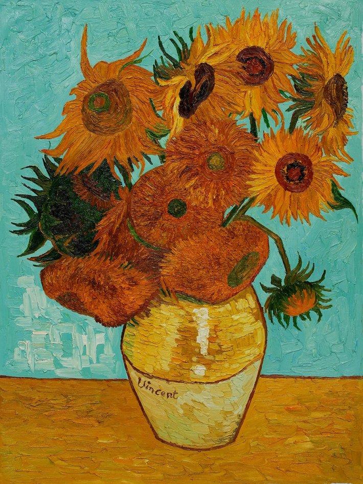 Vincent Van Gogh; Flori de floarea soarelui, Foto: kalandozomagyarok.cafeblog.hu