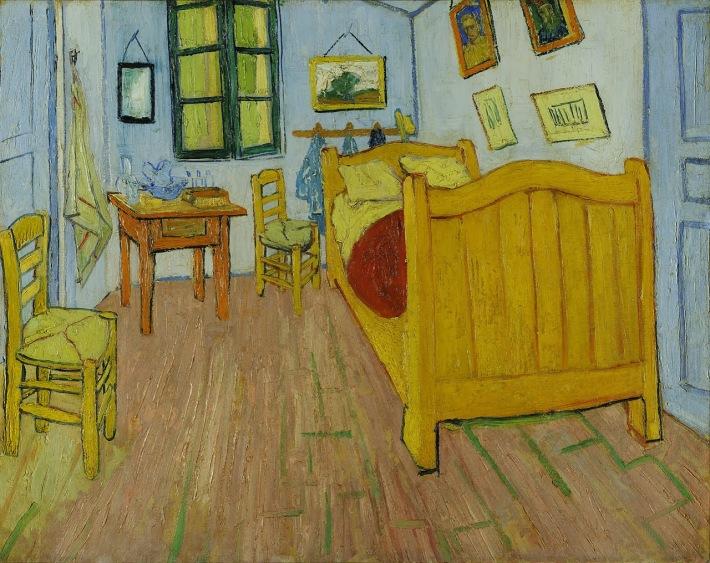 Vincent van Gogh; Dormitorul in Arles, Foto: artealasocho.blogspot.ro