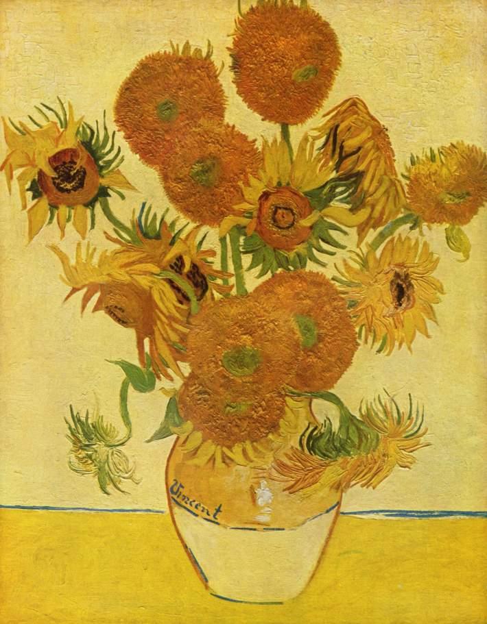 Vincent van Gogh; Tournesols, Foto: umetnostje.wordpress.com