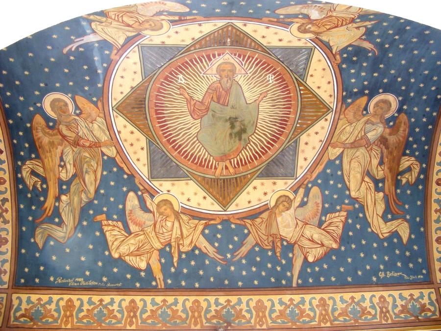 catedrala ortodoxa pictura pe bolta afara
