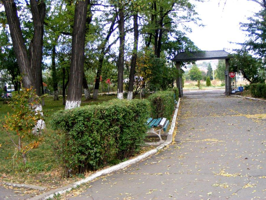 intrarea principala parc ghika comanesti