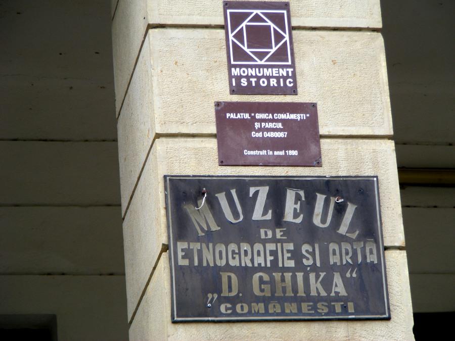 placa muzeu palatul ghika comanesti