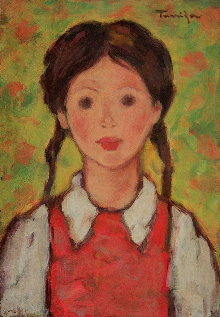 Nicolae Tonitza - fetita cu codite