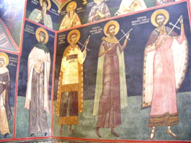 biserica borzesti pictura interioara