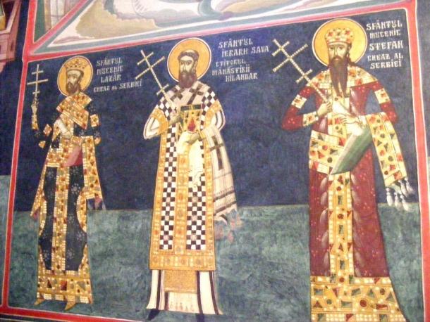 biserica borzesti pictura murala