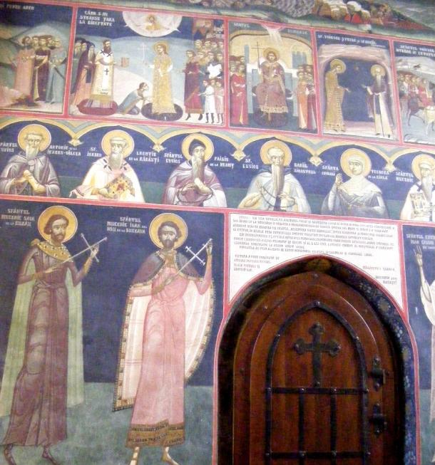 biserica borzesti pictura pereti