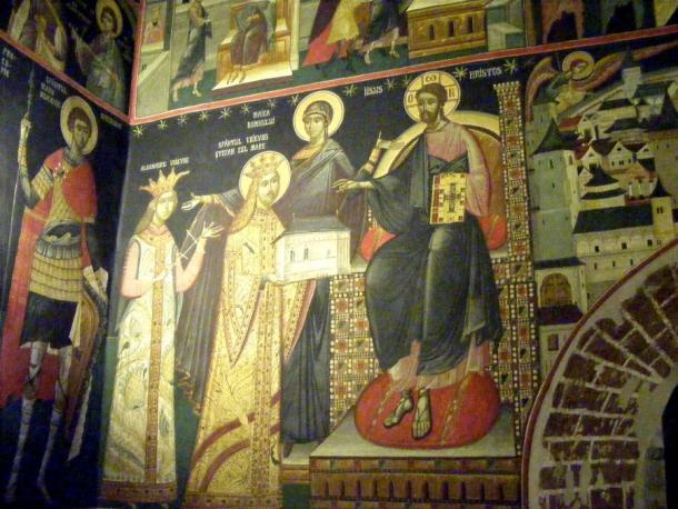 biserica borzesti stefan pictura