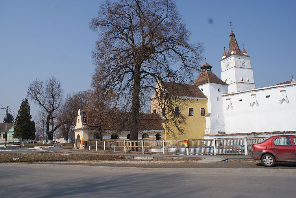 Biserica evanghelică din Harman ansamblu