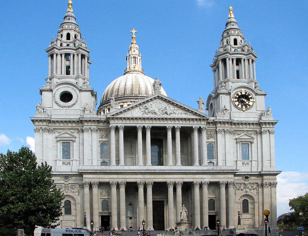 Catedrala St. Paul din Londra intrarea principala