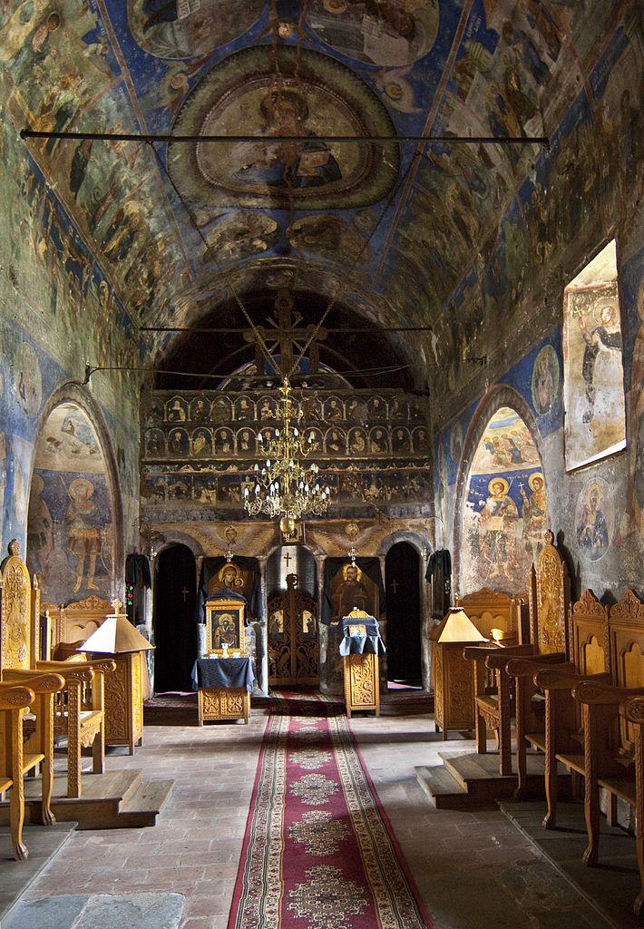 Mănăstirea Cotmeana interior