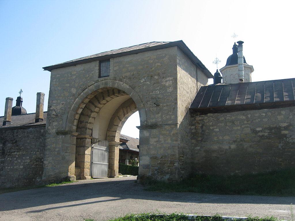 Manastirea Hlincea intrare