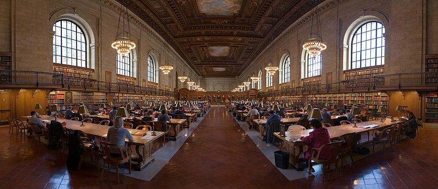 New York Public Library sala mare de citit
