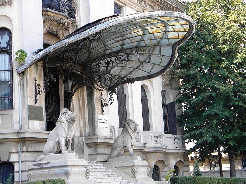 Palatul Cantacuzino din Bucureşti intrare