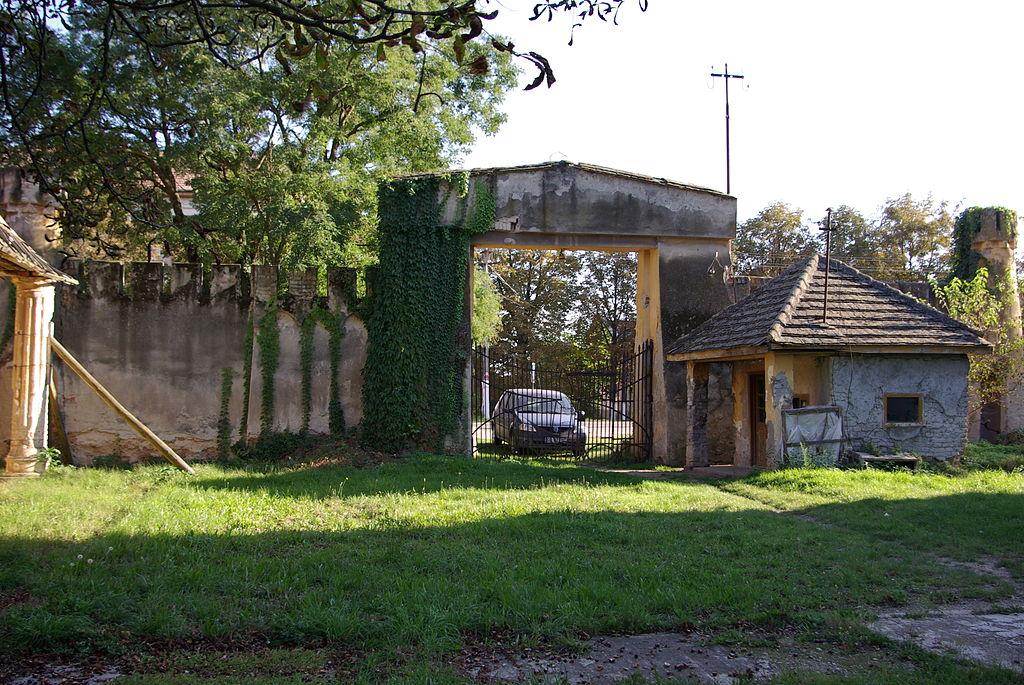 Poarta intrare Castelul Banloc