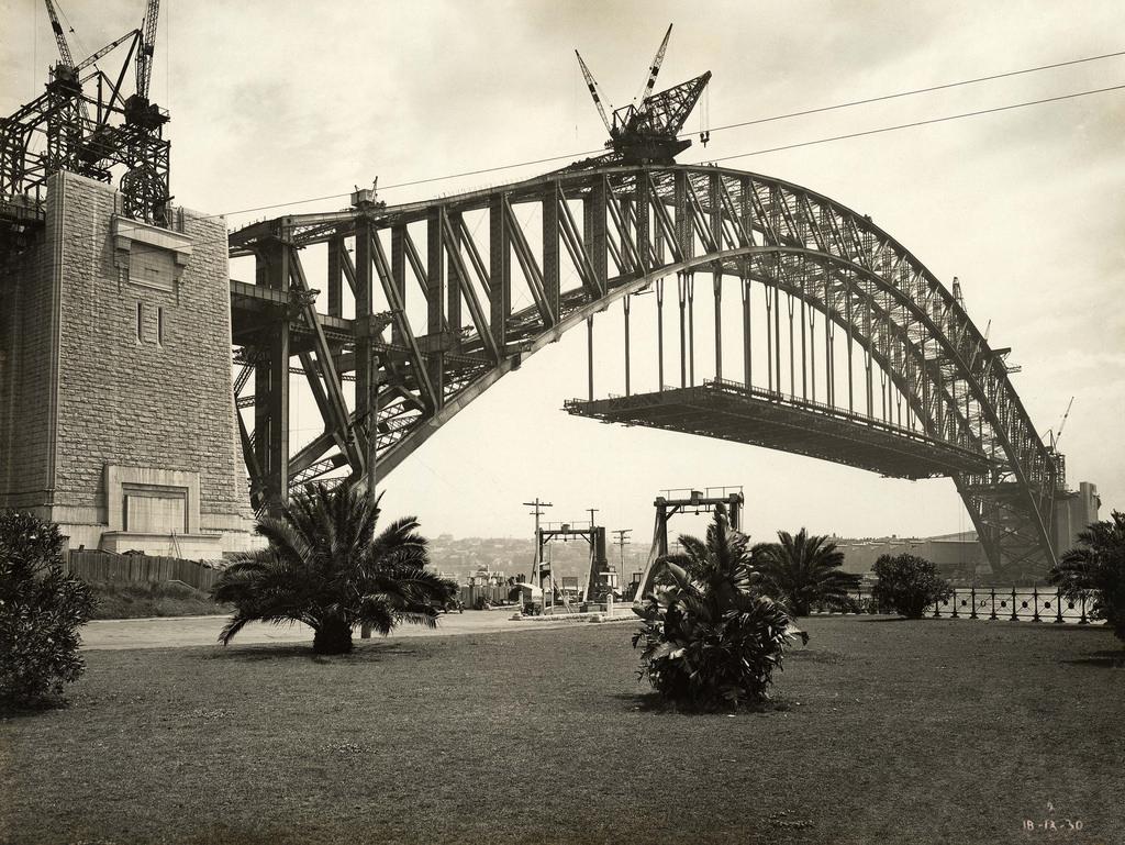 Podul din portul Sydney construire