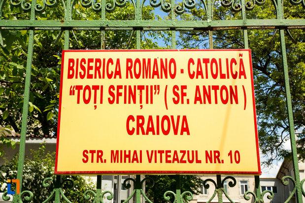 placuta-cu-biserica-romano-catolica-sf-anton-din-craiova-judetul-dolj.jpg