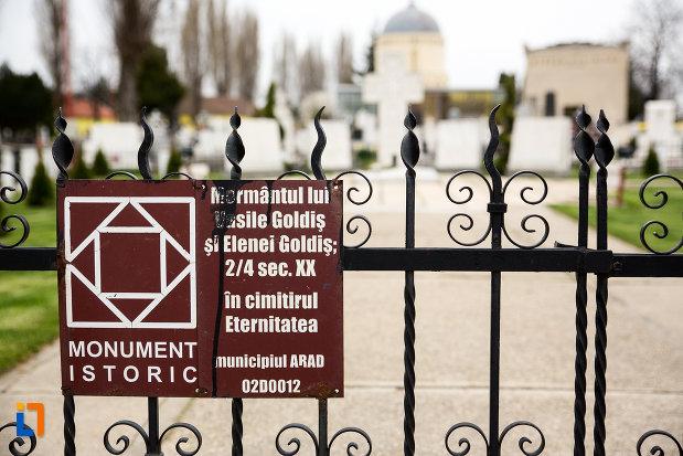 placuta-informativa-cu-mormantul-lui-vasile-goldis-si-al-elenei-goldis-din-arad-judetul-arad.jpg