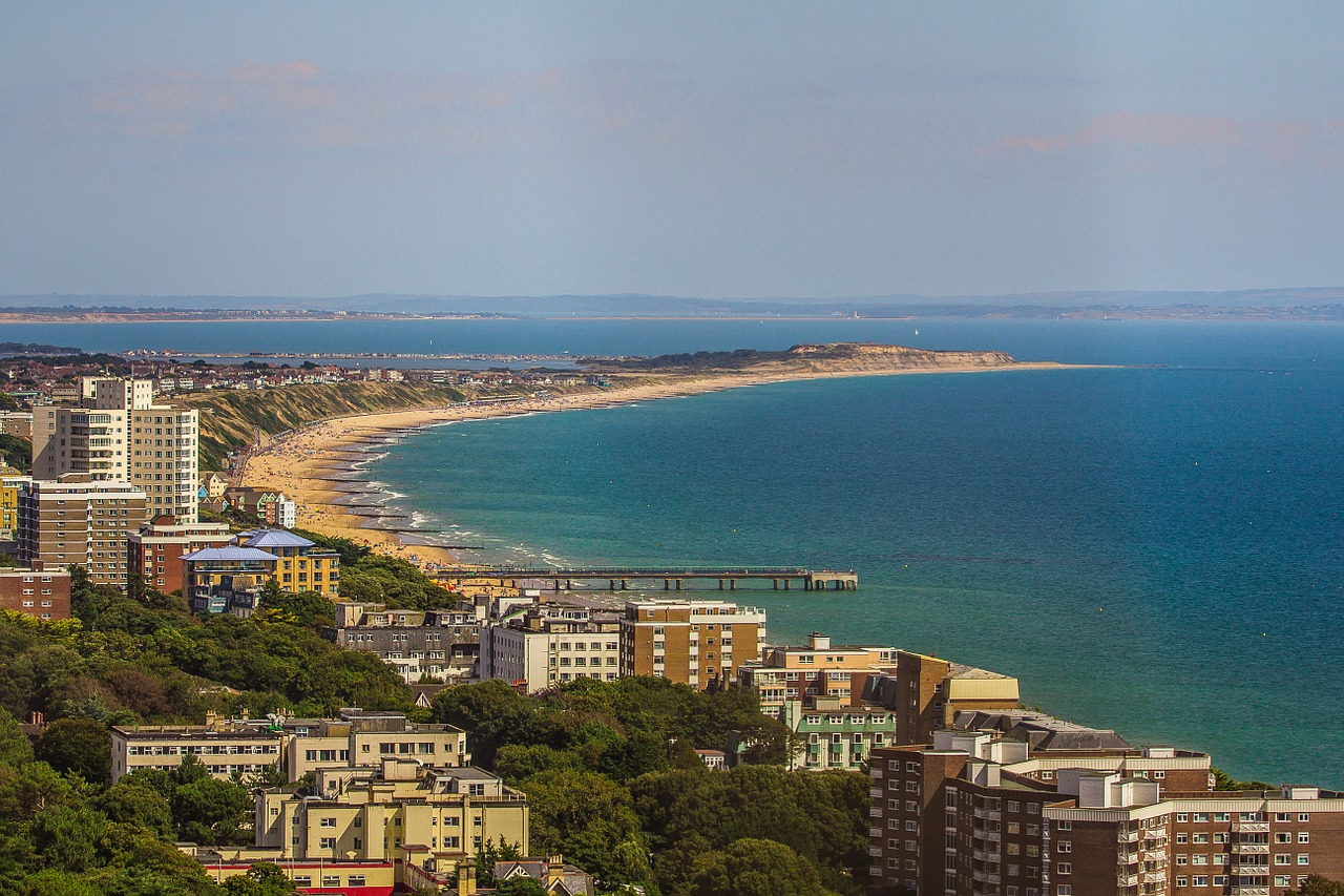 plaja Bournemouth