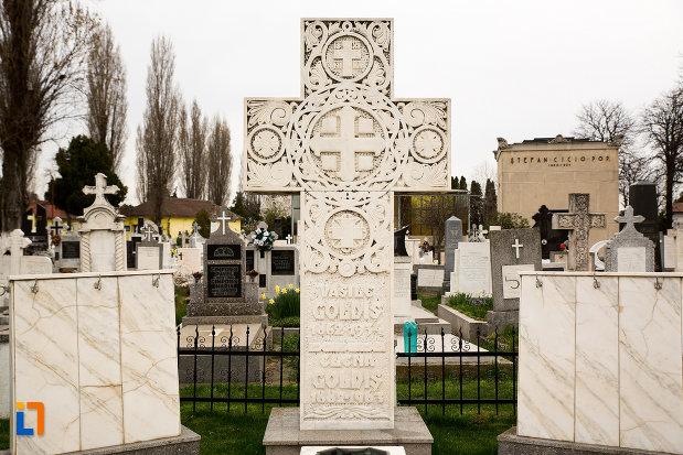 prim-plan-cu-crucea-de-pe-mormantul-lui-vasile-goldis-si-al-elenei-goldis-din-arad-judetul-arad.jpg