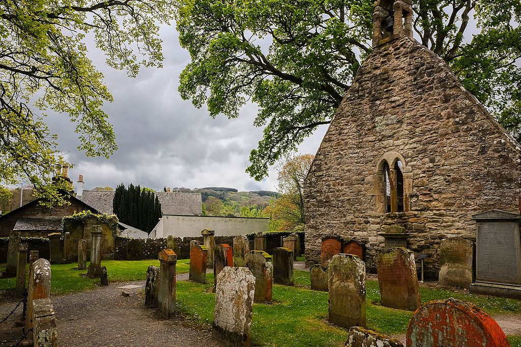 ruina bisericii Alloway Auld Kirk
