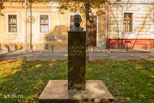 vedere-cu-bustul-lui-czaran-gyula-din-oradea-judetul-bihor.jpg